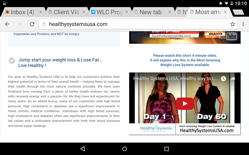 The following screen shots are from the 2016 HEALTHY SYSTEMS USA website. This video is exactly like the BOUARI CLINICS video promoting their fraudulent weight loss program.