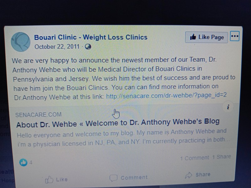 Dr. Wehbe becomes a team member of the BOUARI CLINIC October 2011