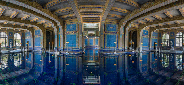 The indoor swimming pool at Hearst Castle in Sam Simeon, California