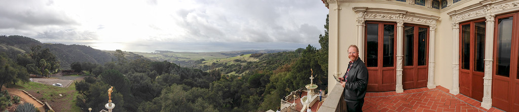iPhone panorama from the balcony of a guest house.