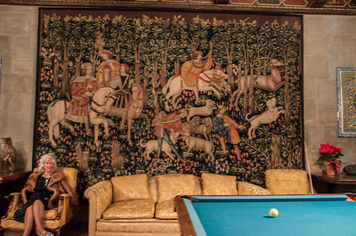 Tapestry in the game room