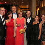 Nick Walker, event co-chair Sheila Walker, Doug and Preston Stough, Gavin and Andrea Gleason, and Beth and Jim Moore.
