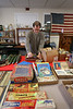 HOLLY PELCZYNSKI - BENNINGTON BANNER Brian Tebo of Heart felt antiques and auction service sorts out ephemera lots for the upcoming auction at Colgate Park in Bennington.