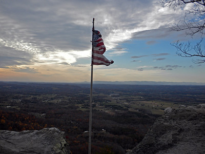 Tattered Flag at the Northern Overlook