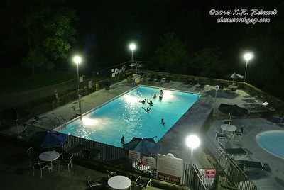 Late Evening at the Pool