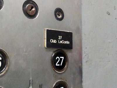 The Service Elevator at Club LeConte
