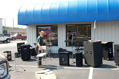 Setting Up at TD BBQ