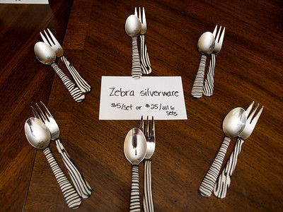 Zebra print silverware - $5/set or $25 for all 6 sets [South Africa]