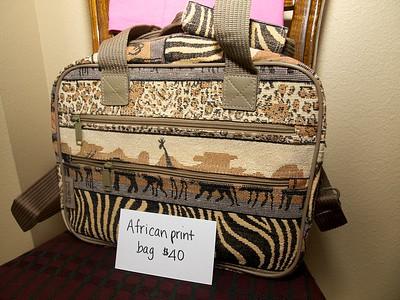 African print bag - $40 [Tanzania]