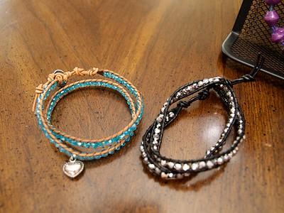 Sequin Wrap Bracelet - $15 [Swaziland] Available colors: turquoise, black