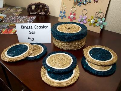 Grass Coaster Set - $10 - navy and cream [Swaziland]