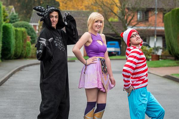 Mike, Emma & Dan Comicon 2014