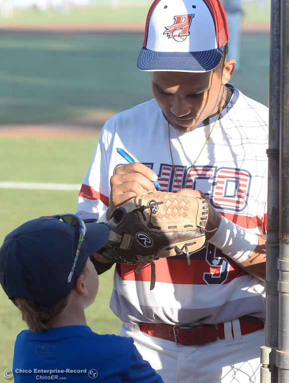 . during the Chico Heat vs All Stars baseball game at Nettleton Field in Chico, Calif. Mon. July 24, 2017.  (Bill Husa -- Enterprise-Record)