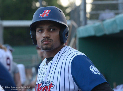 Marcus Wilhite as the Chico Heat play Wednesday, May 31, 2017, against the Portland Pickles at Nettleton Stadium in Chico, California. (Dan Reidel -- Enterprise-Record)