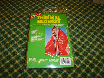 I purchased five thermal blankets from Bass Pro stores.