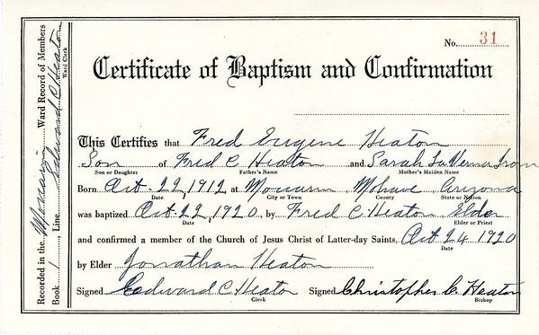 Fred E Heaton Documents