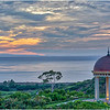 The Pacific Ocean as seen from the Pelican Hill Resort in Newport Beach, CA.