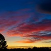 The sunset in Cedar City, Utah during the wedding reception for Ashley and Gavin Munson