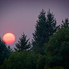 A smoky sunset in Bountiful, Utah