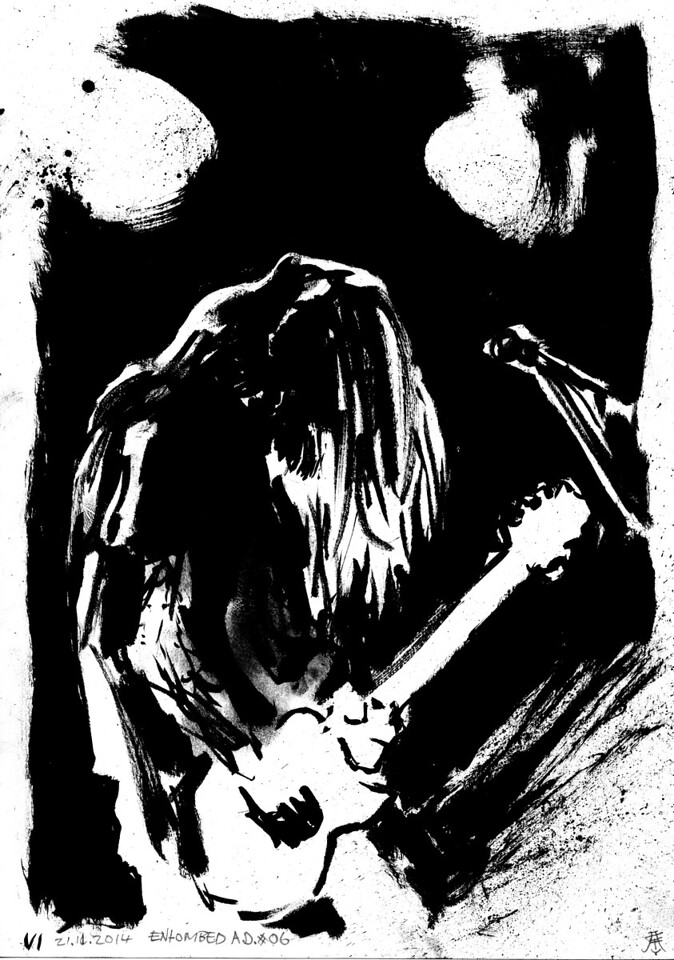 Original for sale for 65$. A4 size (29,7cm x 21cm). Worldwide shipping included!   Drawn by the side of the stage, live during concerts. Presented as the were drawn, not edited or corrected afterwards.  For more free art, please do consider supporting me on http://www.patreon.com/kimholm