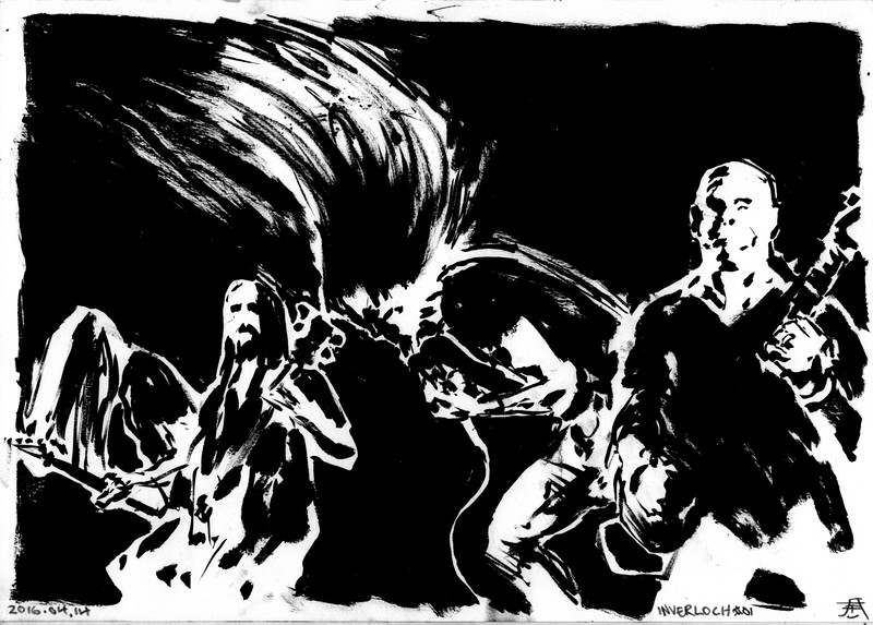 This work is licensed under a Creative Commons Attribution 4.0 International License.  In other words, available for free use, as long as you remember to site me as the artist.   (Remember that these works are drawn live, depicting real people and bands, so do not abuse their likeness).   Originals for sale for 65 euro, including international shipping. Contact me for availability at denungeherrholm (at) gmail.com