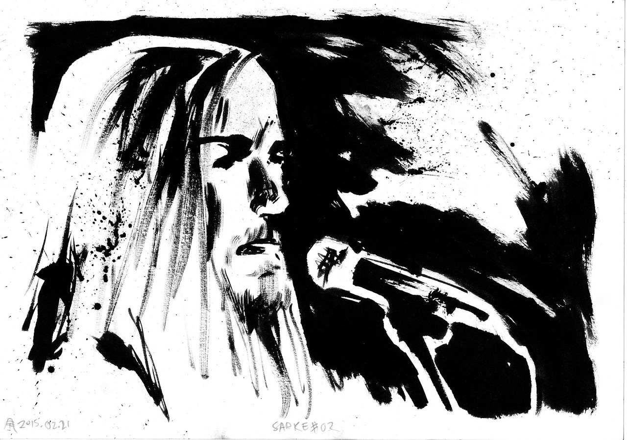 Originals for sale for only 65$. A4 size (29,7cm x 21cm). Worldwide shipping included! Ask for availablity.  Drawn by the side of the stage, live during concerts. Presented as the were drawn, not edited or corrected afterwards