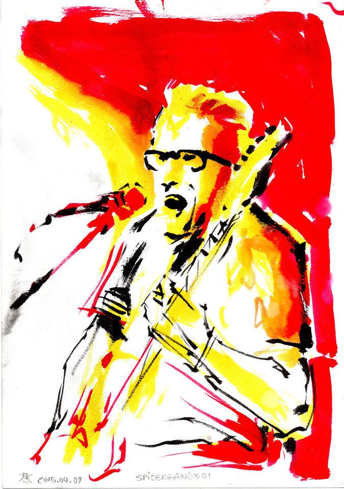 Originals for sale for only 65$. A4 size (29,7cm x 21cm). Worldwide shipping included! Ask for availablity.  Drawn by the side of the stage, live during concerts. Presented as the were drawn, not edited or corrected afterwards.  For more free art, please consider supporting at https://www.patreon.com/kimholm