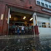 KRISTOPHER RADDER - BRATTLEBORO REFORMER<br /> Members of the Brattleboro Fire Department watches as a strong storms goes through the Brattleboro area on Monday, June 19, 2017.