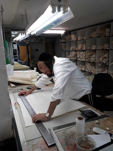 parchment is custom-cut to my specifications