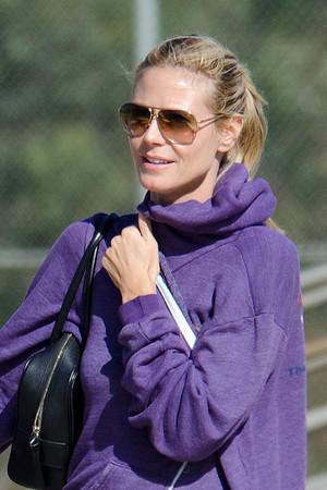 Heidi Klum seen in Brentwood