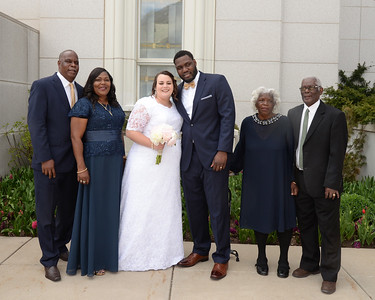 Heidi Taft Temple Wedding Day