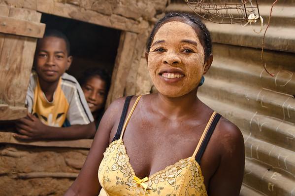 Razanamalala Eliane (mother, age 32) shows me around the family's compound.