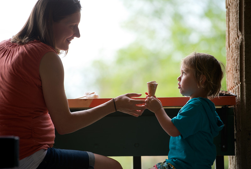 "Lauren Winer and her daughter Coppen Winer, 3, share ice cream at Heifer and the Hen in Boulder. More photos:  <a href=""http://www.dailycamera.com"">http://www.dailycamera.com</a><br /> Autumn Parry/Staff Photographer<br /> May 5, 2016"