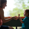 """Lauren Winer and her daughter Coppen Winer, 3, share ice cream at Heifer and the Hen in Boulder. More photos:  <a href=""""http://www.dailycamera.com"""">http://www.dailycamera.com</a><br /> Autumn Parry/Staff Photographer<br /> May 5, 2016"""