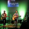 Jamie, Jon and Robin leading worship Sunday morning. May 2011