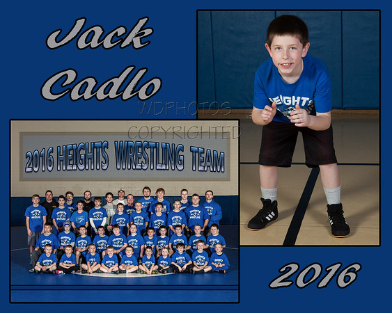 Memory Mate Wrestling 2016 Jack Cadlo