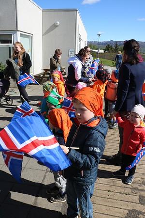 Heimsókn forseta hjónanna og heimsókn í Laugarvatnshelli maí 2017