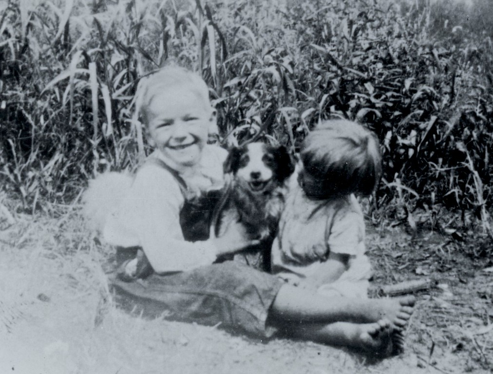 Jr., Mary and the dog.