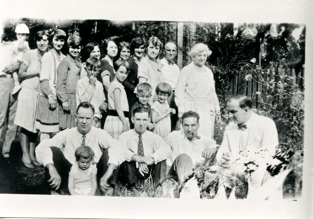 LaSalle Clan, including Montez LaSalle's mother (top row far right).