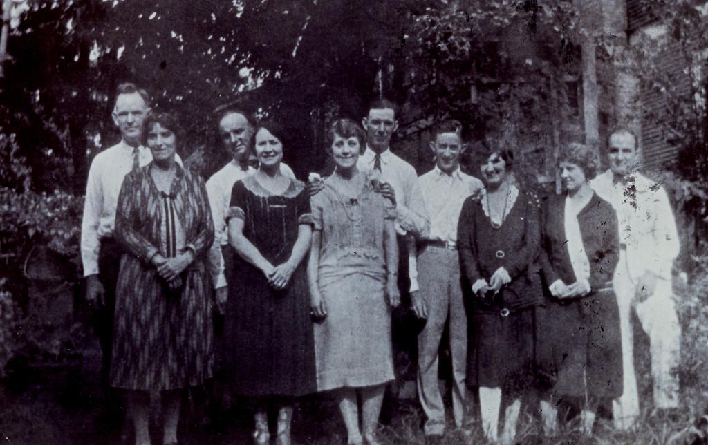 James Lemuel Pledger & Montez LaSalle Pledger, Bye & Margaret LaSalle (Joe LaSalle's parents), Ned & Olive LaSalle, Robert & Allyne Odell and June & Bessie LaSalle.
