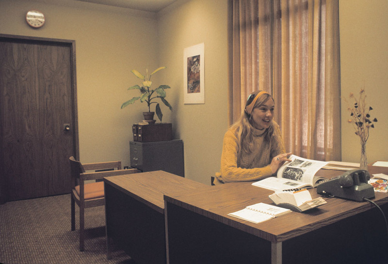 Head Librarian Barbara Ingle, 1972