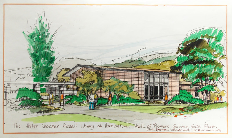 Yuill-Thornton, Warner, and Levikow Architects  Library Design Sketch, [1968?]