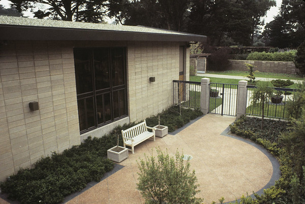 Library Courtyard, 1972