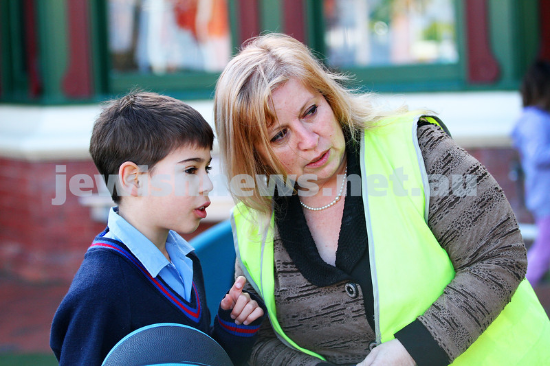 A week in the life. Helen Greenberg. Principal, Sholem Aleichem College. school yard duty. Photo: Peter Haskin