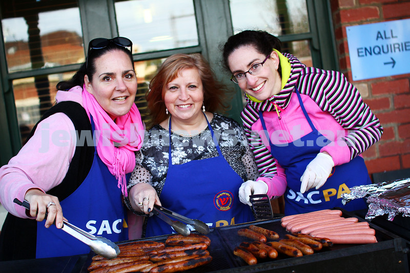 A week in the life. Helen Greenberg. Principal, Sholem Aleichem College. sausage sizzle with the parents. Photo: Peter Haskin