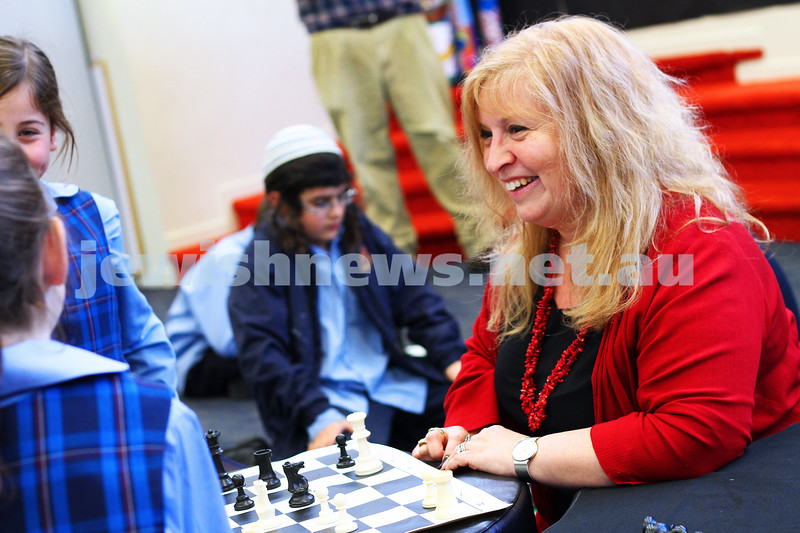 A week in the life. Helen Greenberg. Principal, Sholem Aleichem College. Checking in with the chess club. Photo: Peter Haskin