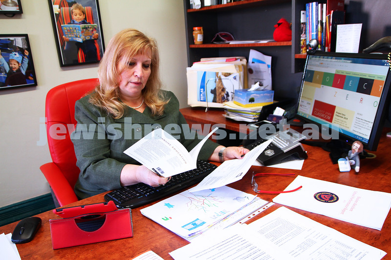 A week in the life. Helen Greenberg. Principal, Sholem Aleichem College. Photo: Peter Haskin