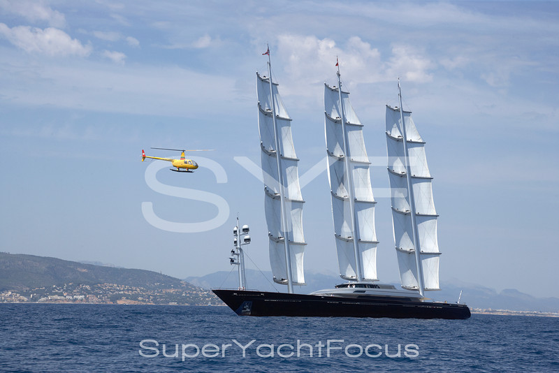 Helicopter with Maltese Falcon