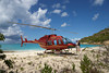 Helicopter on the beach,Antigua