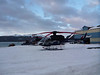 Helicopters all bundled up for the night.